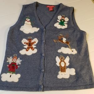 Sweaters - Merry Bright Ugly Christmas Sweater Vest Angels